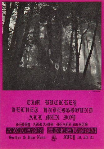Tim Buckley Handbill