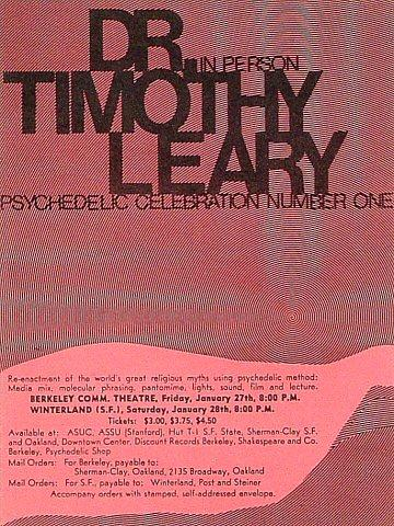Timothy Leary Handbill