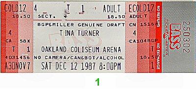 Tina Turner1980s Ticket
