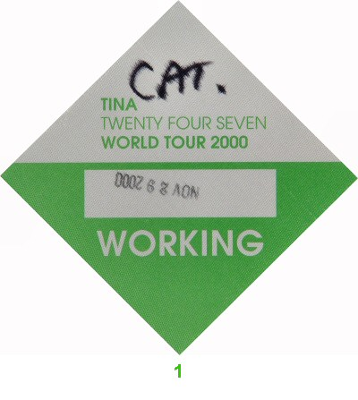 Tina Turner Backstage Pass