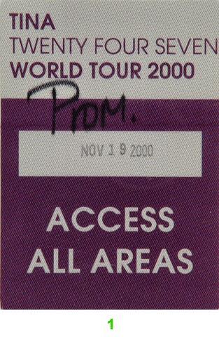 Tina TurnerBackstage Pass
