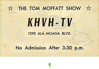 Tom MoffattPre 1960s Ticket