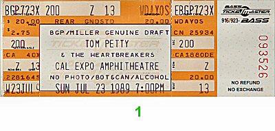 Tom Petty & the Heartbreakers1980s Ticket
