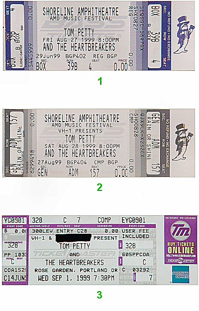Tom Petty & the Heartbreakers 1990s Ticket