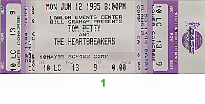 Tom Petty &amp; the Heartbreakers1990s Ticket