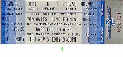 Tom Waits1980s Ticket
