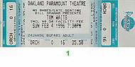 Tom Waits 1990s Ticket