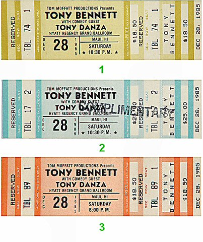 Tony Bennett1980s Ticket