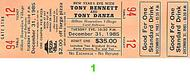 Tony Bennett 1980s Ticket