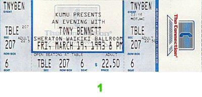 Tony Bennett1990s Ticket
