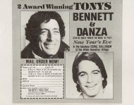 Tony Bennett Handbill