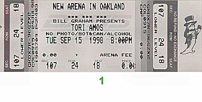 Tori Amos1990s Ticket