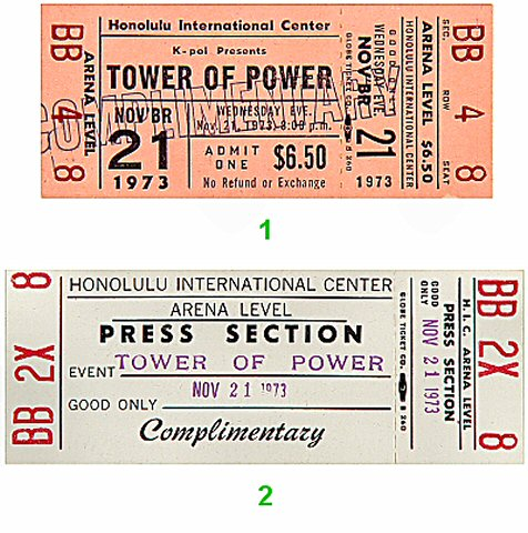 Tower of Power 1970s Ticket