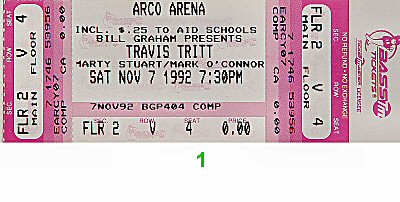 Travis Tritt 1990s Ticket