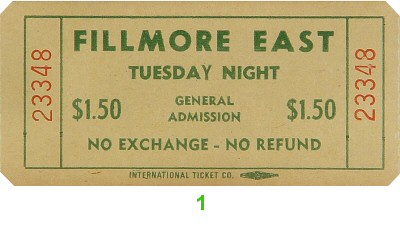 Tuesday Night 1970s Ticket