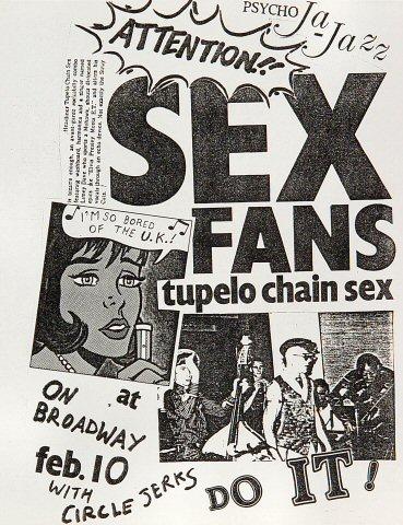 Tupelo Chain Sex Handbill