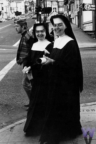 Two Nuns Vintage Print