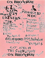 U.K. Subs Handbill