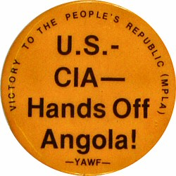 U.S.-CIA-Hands off Angola Vintage Pin