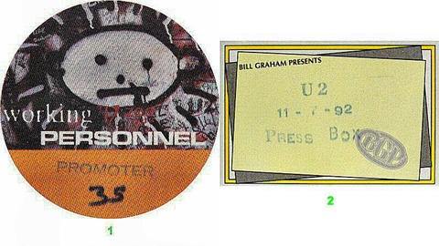 U2 Backstage Pass