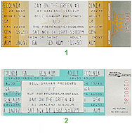The Pretenders Vintage Ticket
