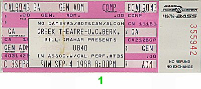 UB401980s Ticket