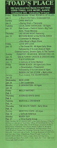 Upcoming Bands Handbill
