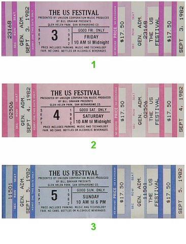 US Festival Vintage Ticket