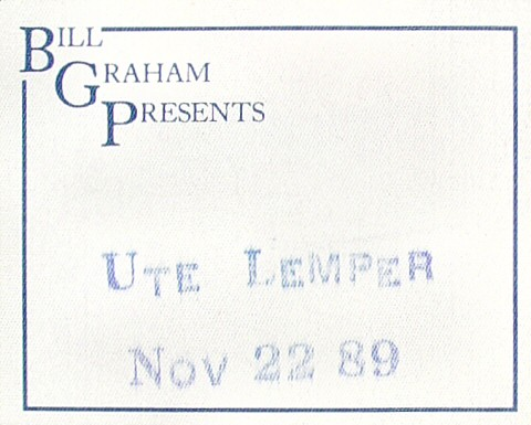 Ute Lemper Backstage Pass