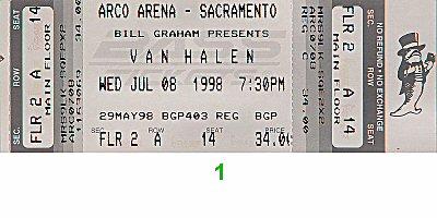 Van Halen1990s Ticket