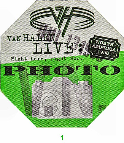 Van HalenBackstage Pass