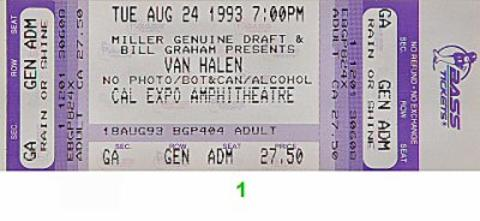 Vince Neil Vintage Ticket