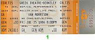 Van Morrison 1980s Ticket