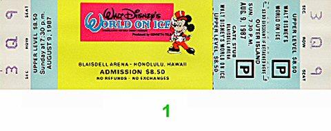 Walt Disney's World on Ice1980s Ticket