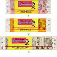 Walt Disney's World on Ice 1980s Ticket