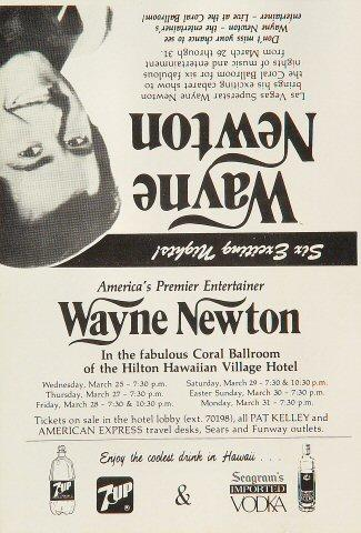 Wayne Newton Handbill