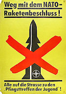 Weg mit dem NATO-Raketenbeschluss Poster
