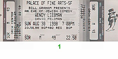 Wendy Liebman 1990s Ticket