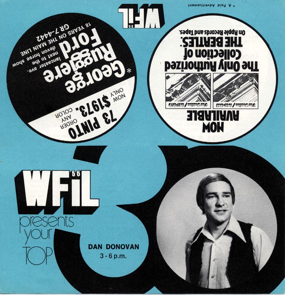 WFIL presents your Top 30 Handbill