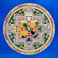 Wheel of Compassion Sand Mandala Poster