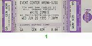 White Zombie 1990s Ticket