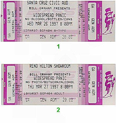 Widespread Panic1990s Ticket