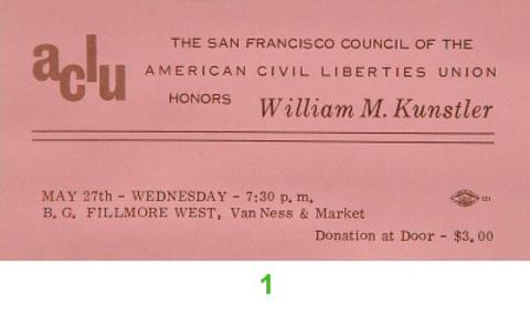 William M. Kunstler Vintage Ticket