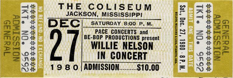 Willie Nelson in Concert1980s Ticket