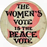 Womens Vote is the Peace Vote Pin