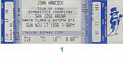 World Gymnastic Champions Tour1990s Ticket