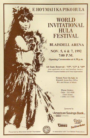 World Invitational Hula Festival Handbill
