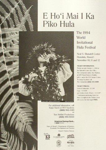 World Invitational Hula Festival Poster