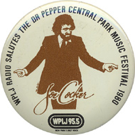 WPLJ Salutes the Dr. Pepper Central Park Music Festival 1980 Vintage Pin