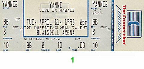 Yanni Vintage Ticket
